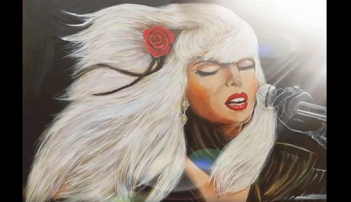 Lady Gaga Painting by Yaacov Heller
